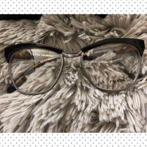 b662d59e2a8b Prada Accessories - Prada Journal Black   Havana Print Glasses